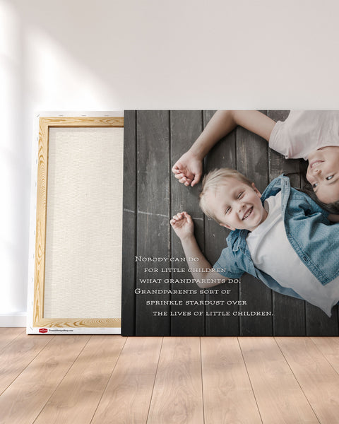 Personalized Photo of Your Kids or Grandkids on Canvas.