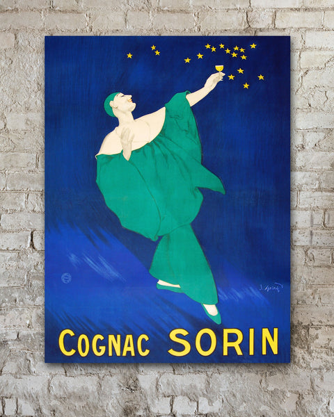 Vintage Poster by Transit Design, Cognac Sorin Vintage Advertising Poster by J. Spring.