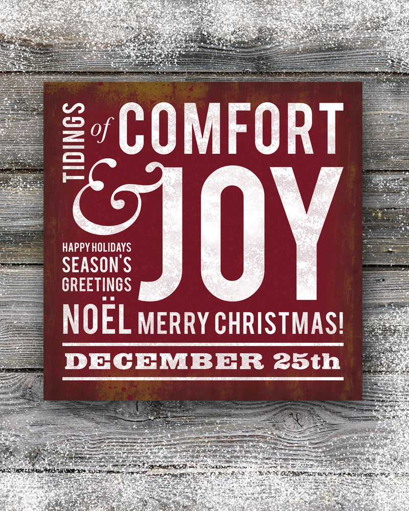 Comfort & Joy Christmas Wall Decor. Christmas Subway Art. – Transit ...
