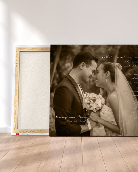 Anniversary Gift. Personalized Wedding Photo Art by Transit Design.