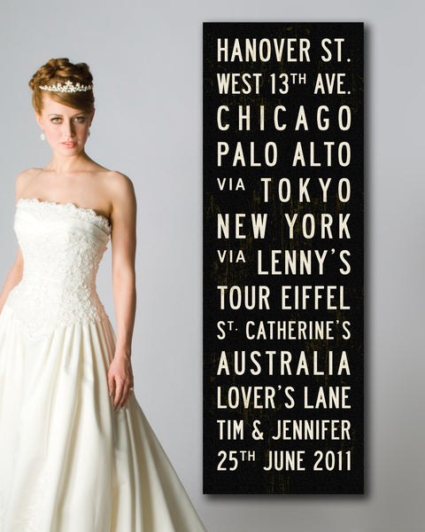 Personalized Wedding Sign. Custom Wedding Banner by Transit Design