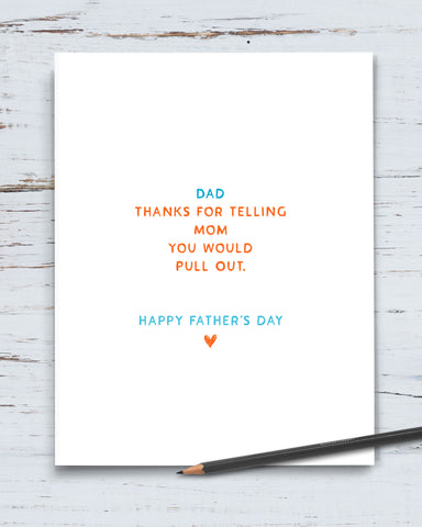 Funny Father's Day Card by Smirkantile, Transit Design.