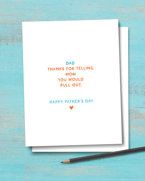 Irreverent, Snarky Father's Day Card by Transit Design.
