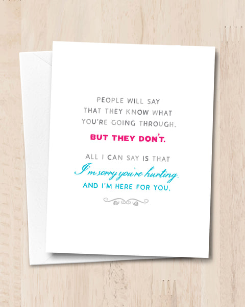 Empathy Card, Sympathy Card by Transit Design
