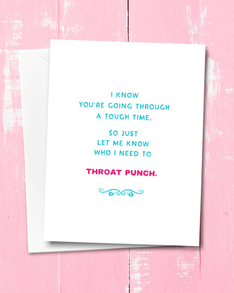 Hard Time, Difficult Times Greeting Card - Funny Card by Smirkantile