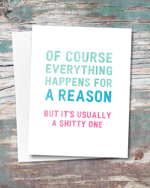 Snarky Encouragement Card by Smirkantile