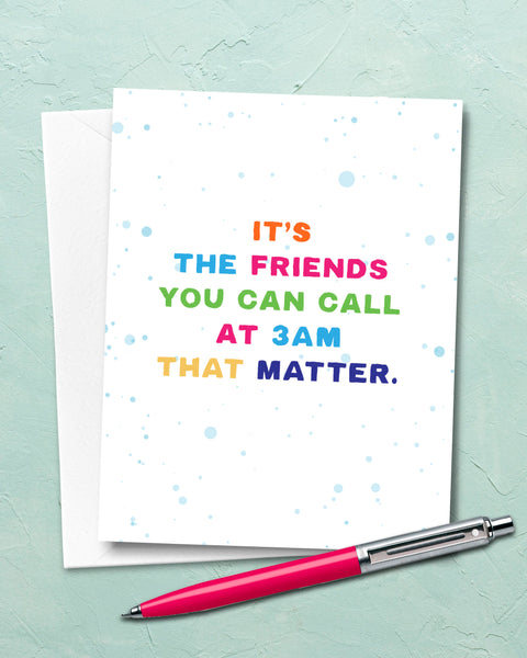 Best Friend Card, Colorful Cards by Smirkantile.