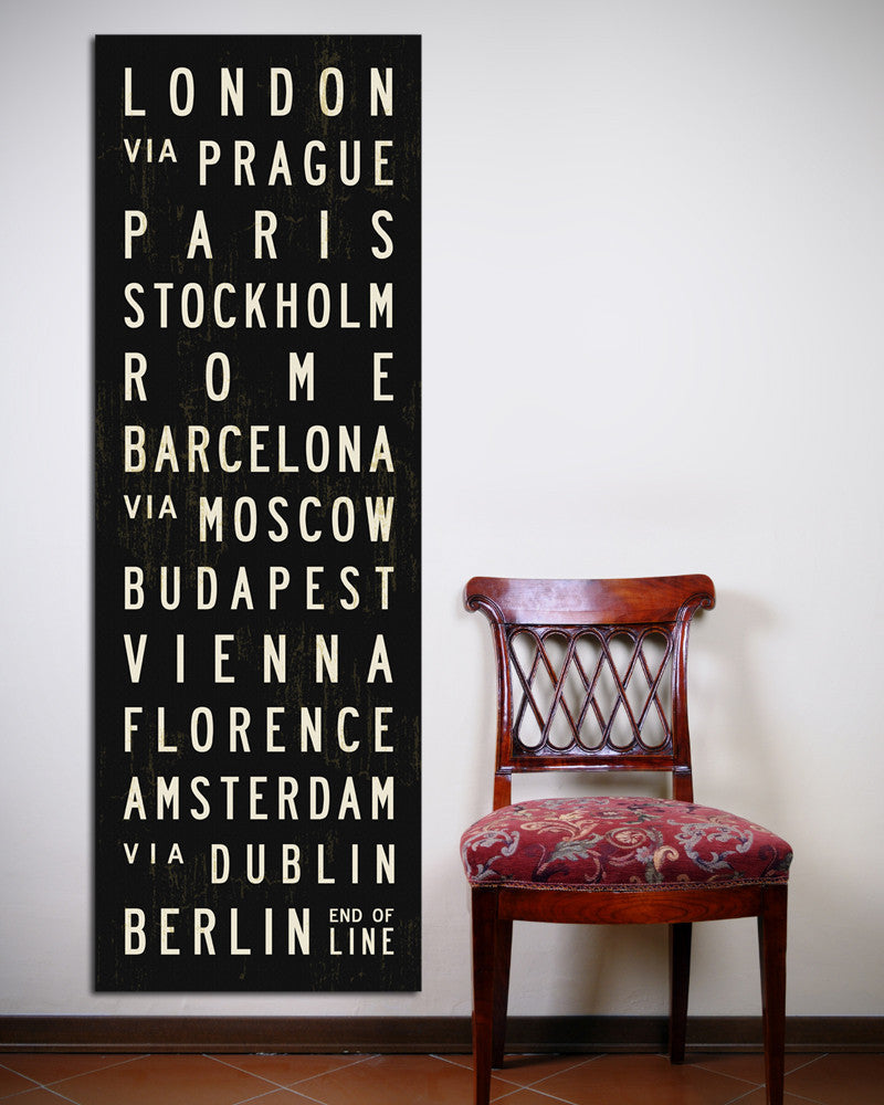 Europe Subway Sign by Transit Design
