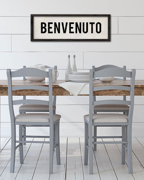 Benvenuto Italian Welcome Sign, Italian Kitchen Decor by Transit Design