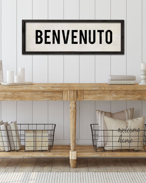 Rustic Home Decor, Italian Welcome Signs, Benvenuto Sign by Transit Design
