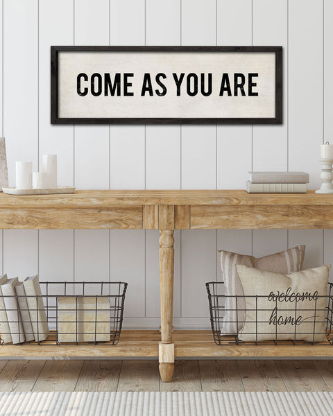 Come As You Are Hand-Painted Sign, Farmhouse Signs by Transit Design