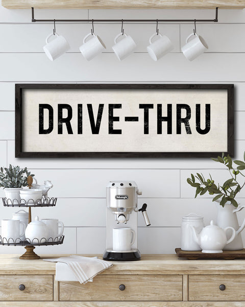Farmhouse Style Drive-Thru Wall Sign by Transit Design