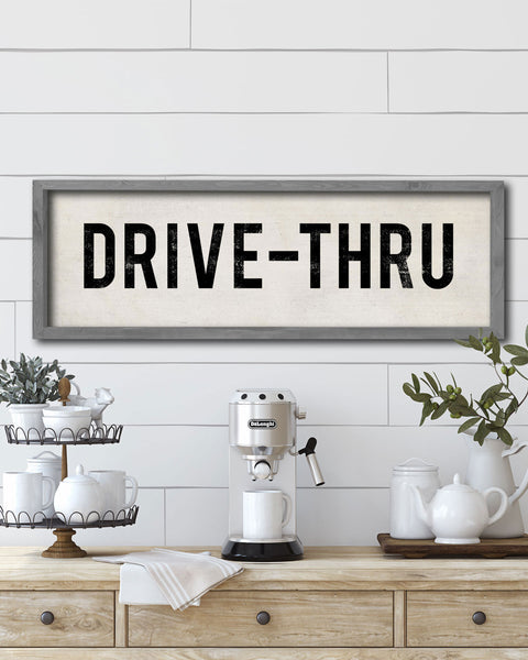 Drive-Thru Wall Sign, Vintage Farmhouse Signs by Transit Design