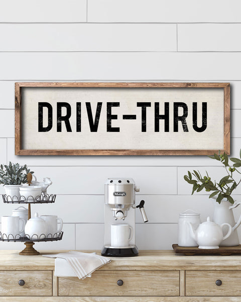 Drive-Thru Home Wall Decor, Decorative Signs by Transit Design