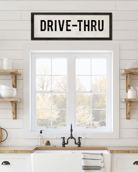 Vintage Drive Thru Sign, Decorative Wall Sign by Transit Design