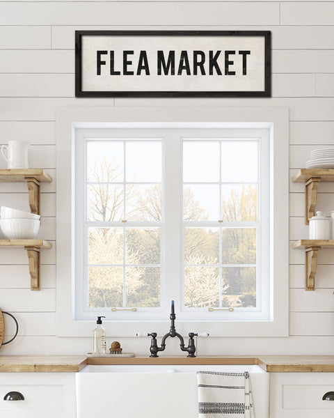 Decorative Flea Market Sign, Hand Painted Decorative Signs by Transit Design