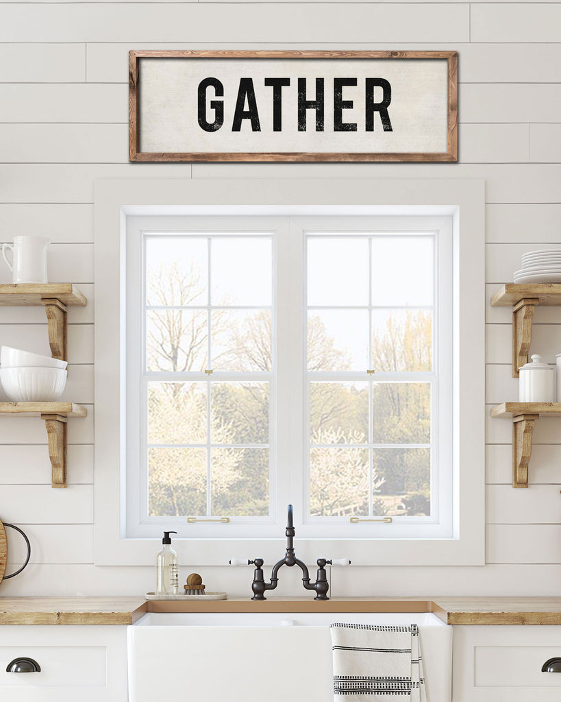 Gather Kitchen Art, Vintage Kitchen Signs -Transit Design