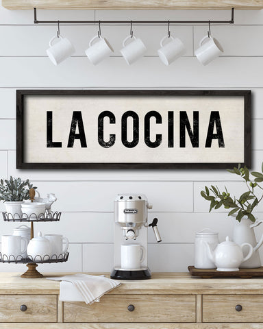 La Cocina Kitchen Signs, Spanish Kitchen Wall Art - Transit Design