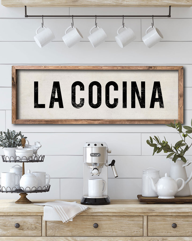 La Concina Signs, Spanish Wall Decor for Kitchen - Transit Design