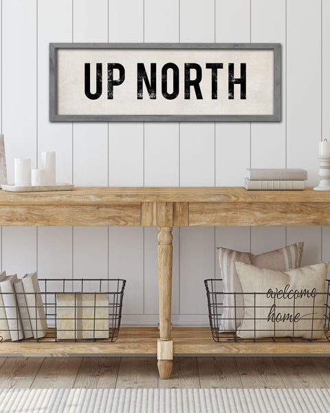 Home Wall Decor, Up North Entryway Sign by Transit Design