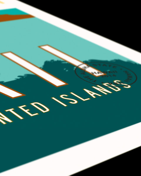 Detail of Hawaii Travel Poster.