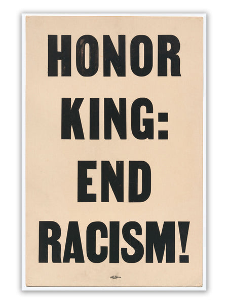 Honor King End Racism Civil Rights Poster, Demonstration Poster