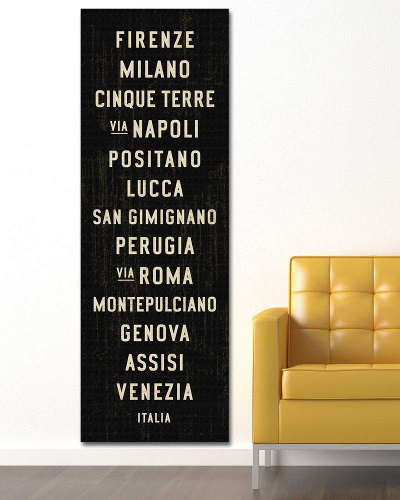 Italy Subway Sign or Bus Scroll Art.