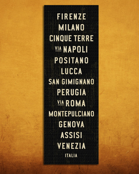 Italian Sign. Italy Bus Scroll.