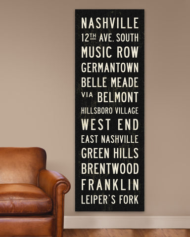 Nashville Subway Sign Art by Transit Design