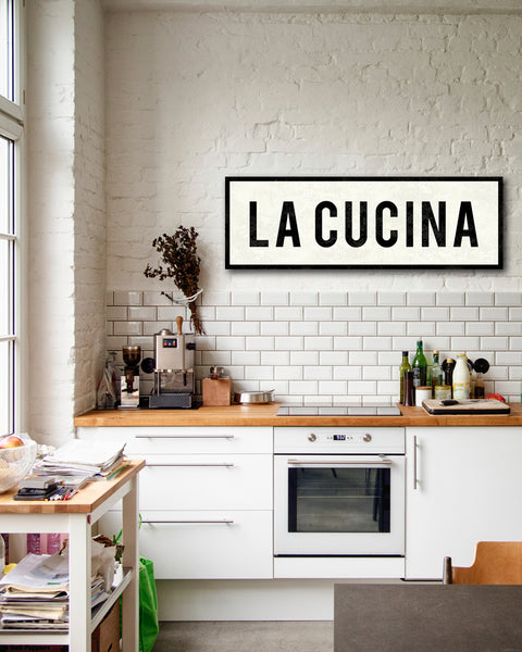 La Cucina Sign by Transit Design. Farmhouse Kitchen Sign.