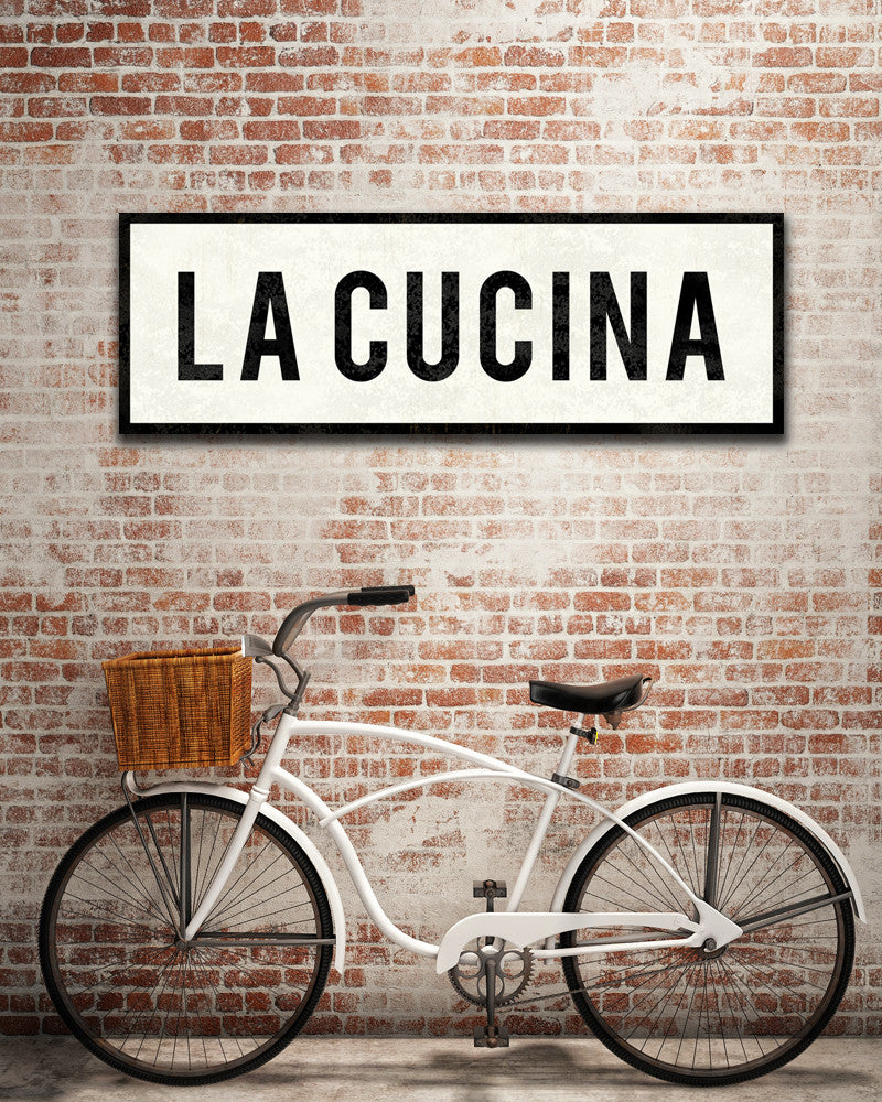 La Italian Kitchen: La Cucina Sign. Italian Kitchen Decor. Farmhouse Sign