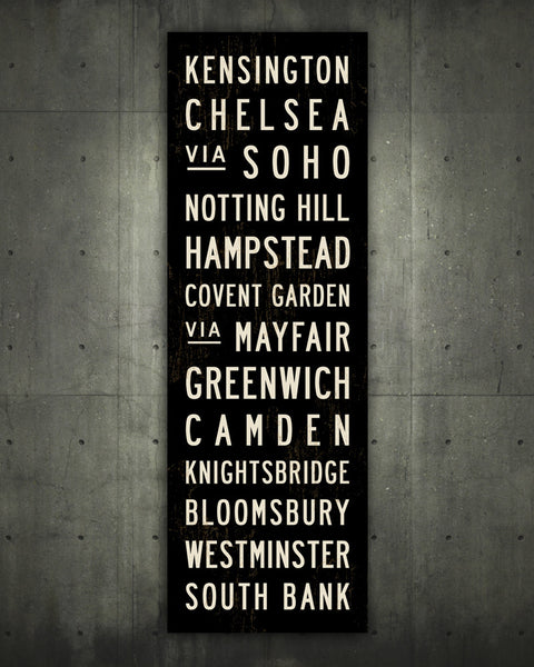 London Subway Sign by Transit Design