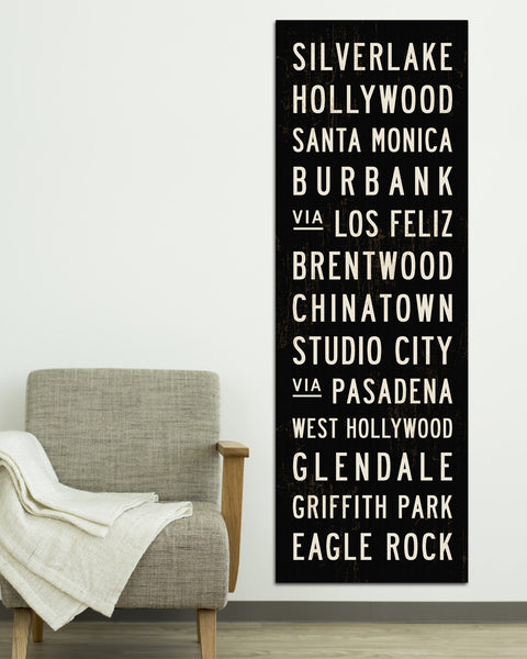 LA Subway Sign Art by Transit Design