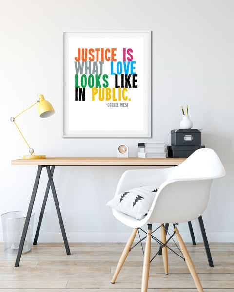 Protest Poster for Sale, Black Lives Matter Poster, Cornel West Quote by Transit Design