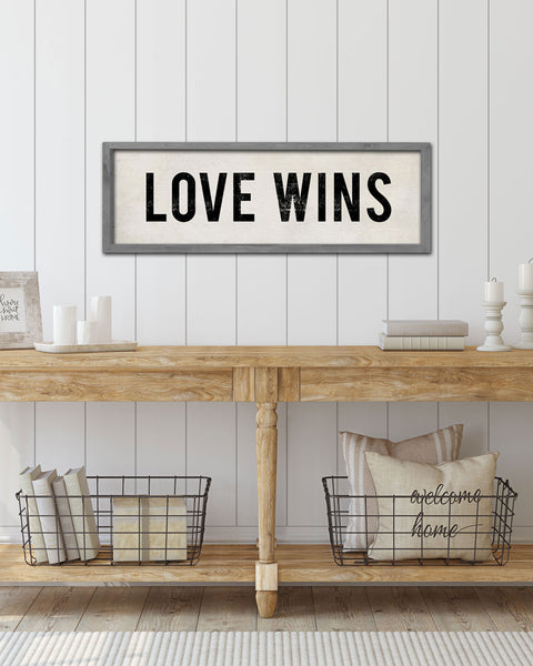 Love Wins LQBTQ Wedding Gift, Wall Signs by Transit Design