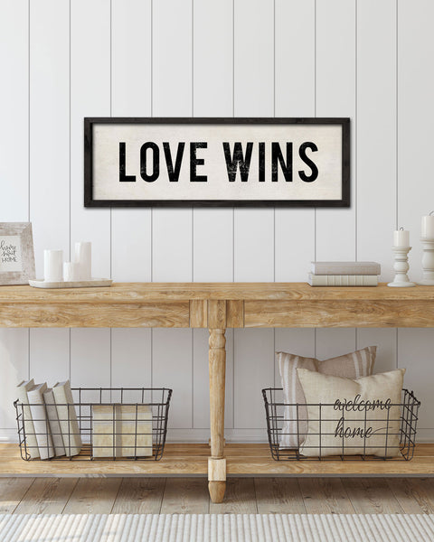 Love Wins Entryway Signs, Decorative Wall Signs by Transit Design