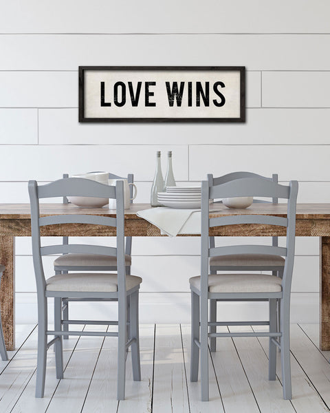 Love Wins Sign, Hand Painted Wood Signs by Transit Design