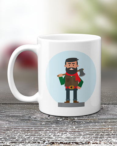 Lumberjack Mug, Unique Mugs by Smirkantile