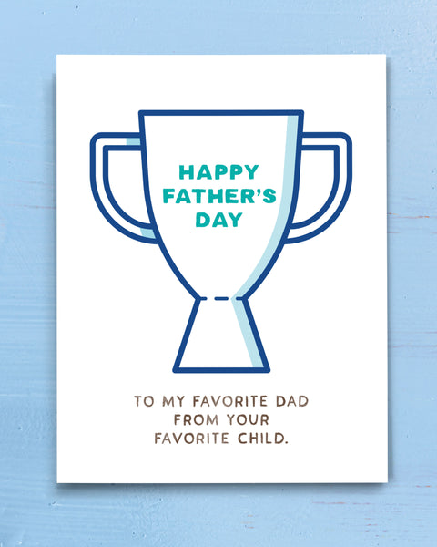 Funny Father's Day Card for Dad from Son or Daughter