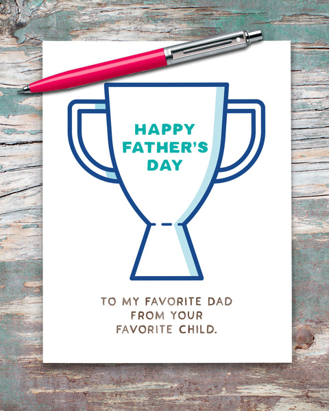 Happy Father's Day Card, Funny Card for Dad by Smirkantile