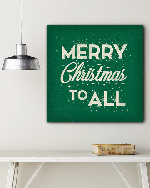 Green Merry Christmas Wall Art