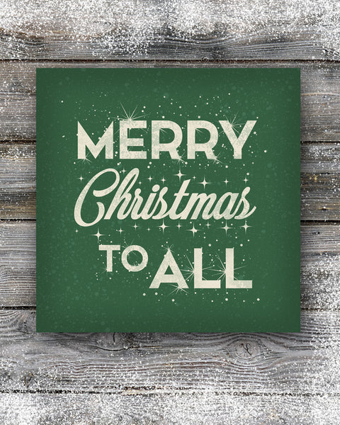 Green Merry Christmas Sign Wall Decor