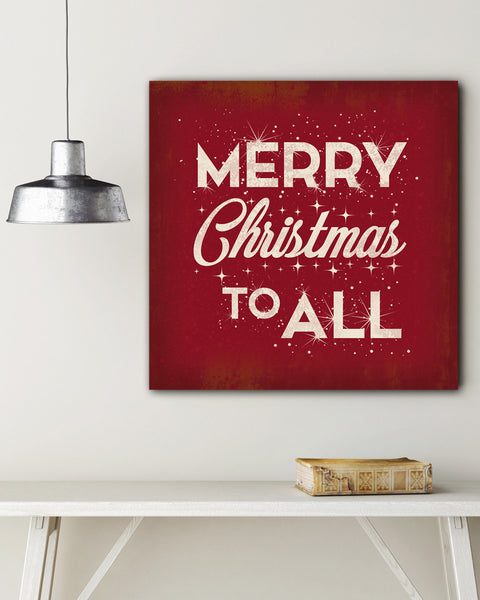 Red Merry Christmas Wall Art