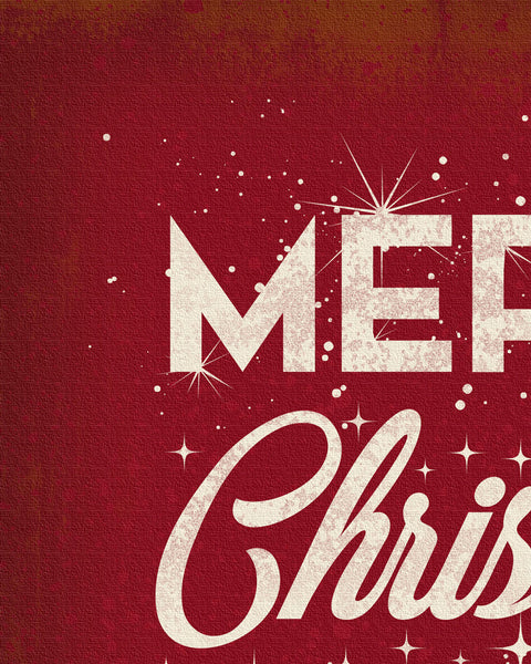 Red Merry Christmas Wall Art Detail