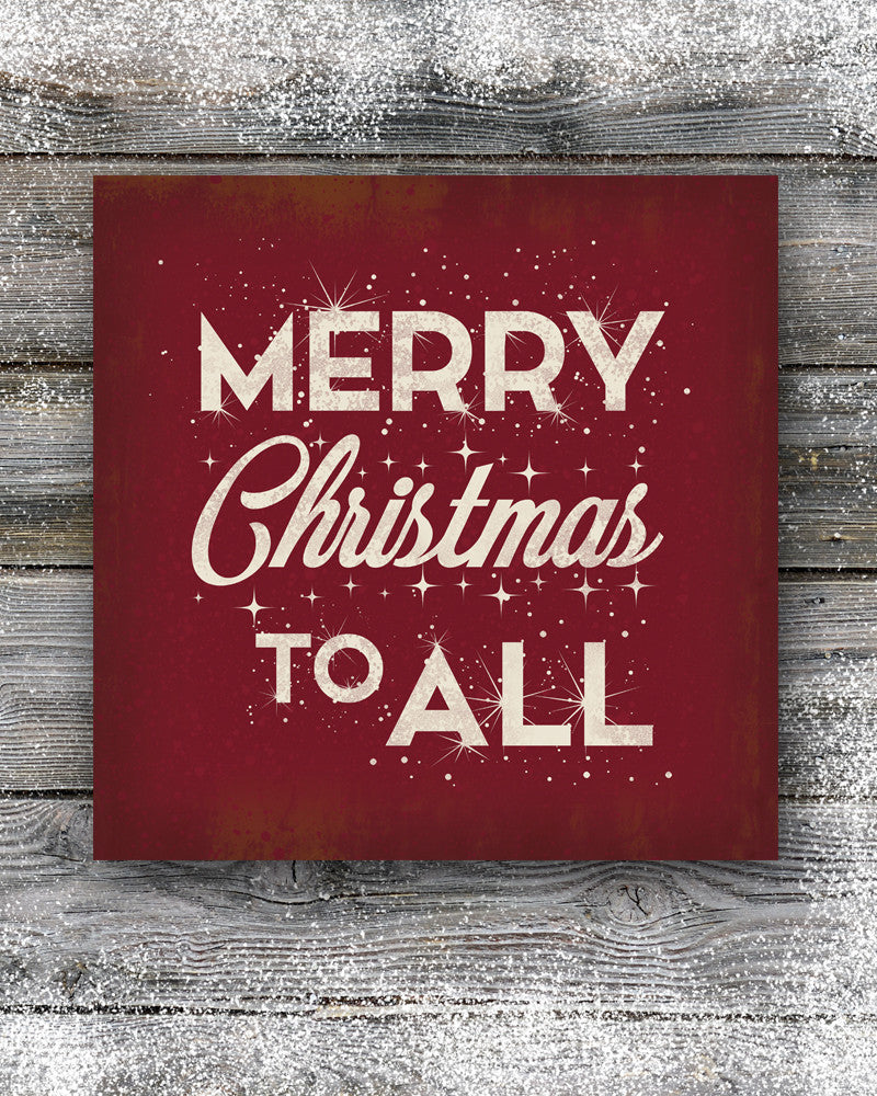 Red Merry Christmas Sign Wall Decor & Merry Christmas Sign Retro Christmas Decor Holiday Wall Art ...