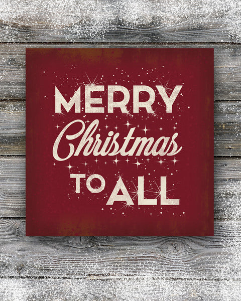 Red Merry Christmas Sign Wall Decor
