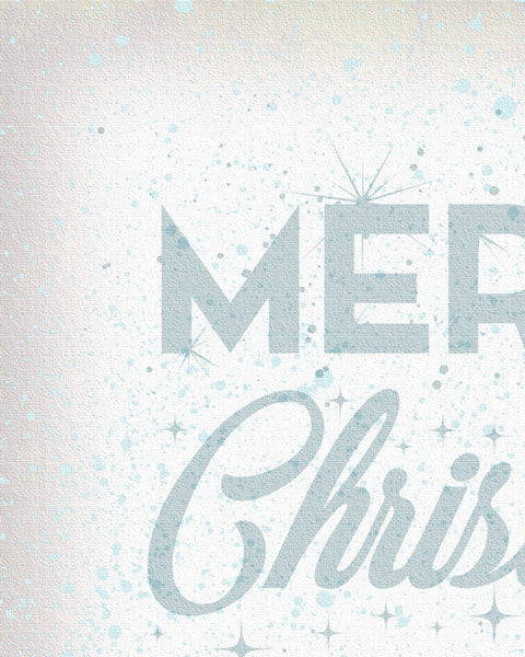 White Merry Christmas Wall Art Detail