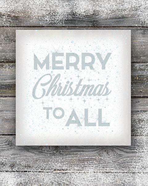 White Merry Christmas Sign Wall Art