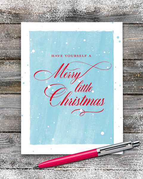 Have Yourself a Merry Little Christmas, Personalized Christmas Cards by Smirkantile