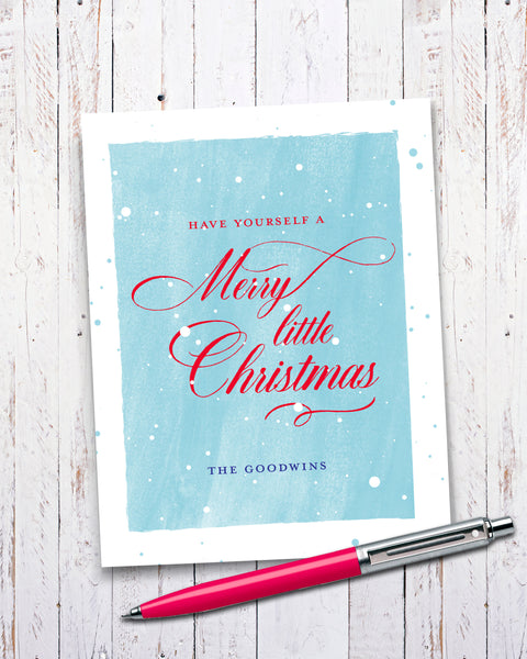 Family Name Christmas Card, Personalized Cards by Smirkantile